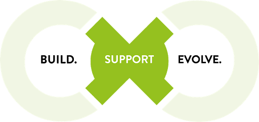 build support evolve graphic